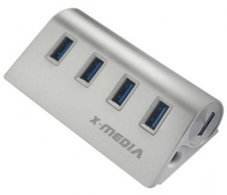 X-MEDIA CA XM-UB3004 HUB 4 PORT USB 3.0 SIN AC