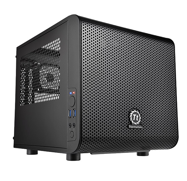 THE CS CA-1B8-00S1WN-00 Core V1 Mini Case Mini ITX bays Hidden : 2 x 3.5'' , 2 x 2.5'' Exp Slots 2